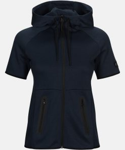 Peak Performance Short Sleeve Tech Zip Hood Navy