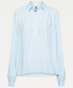Tommy Hilfiger Danee Half Placket Blouse Sail Blue