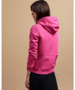 Gant Colour Lock-Up Hoodie Rich Pink