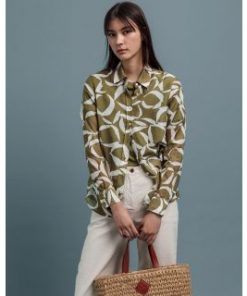 Gant Crescent Bloom Blouse Olive Green