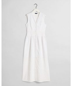 Gant Broidery Anglais Mix Dress White