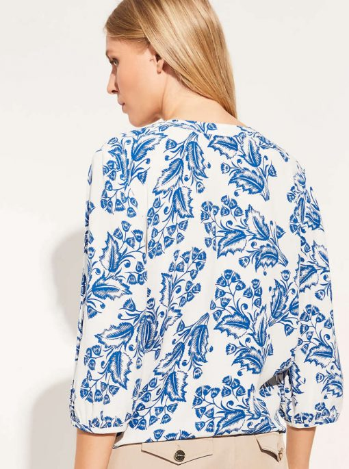 Comma Flower Printed Blouse White