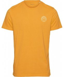 Knowledge Cotton Apparel Alder Owl T-shirt Yellow