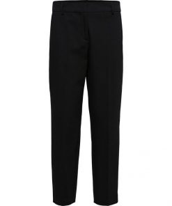 Selected Femme Fria Cropped Pants Black
