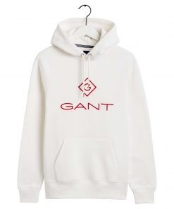 Gant Color Lock Up Hoodie Eggshell