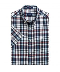 Gant Indigo Check Shirt Fiery Red