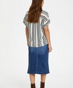 Part Two Drine Blouse Navy Stripe