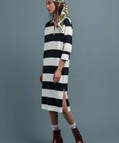 Gant Feminine Striped Rugger Dress Blue