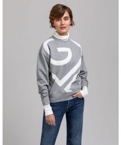 Gant Icon G C-neck Sweater Grey Melange