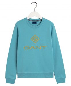 Gant Colour Lock up Sweater Seafoam blue