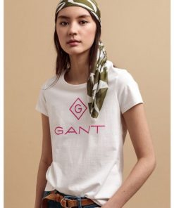 Gant Colour Lock-up T-shirt Eggshell