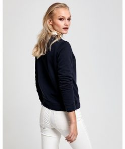Gant Arch Logo C-Neck Sweat Evening Blue