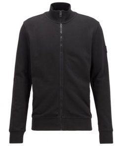 Hugo Boss Zkybox Jersey Cardigan Black