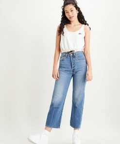 Levi´s Ribcage Straight Ankle Jeans At The Ready Indigo