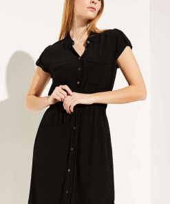 Comma Shirt Dress Black