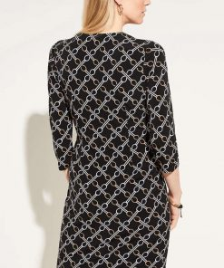 Comma Dress Chain Black