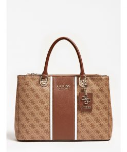 Guess Cathleen Status Carryall Bag Brown