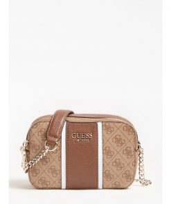 Guess Cathleen Camera Bag Brown