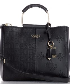 Guess Kaylyn Satchel Black