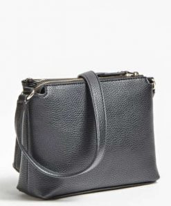 Guess Becca Double Zip Crossbody Black