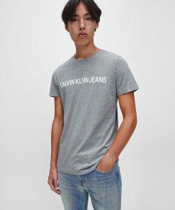 Calvin Klein Institutional logo T-shirt Grey Heather