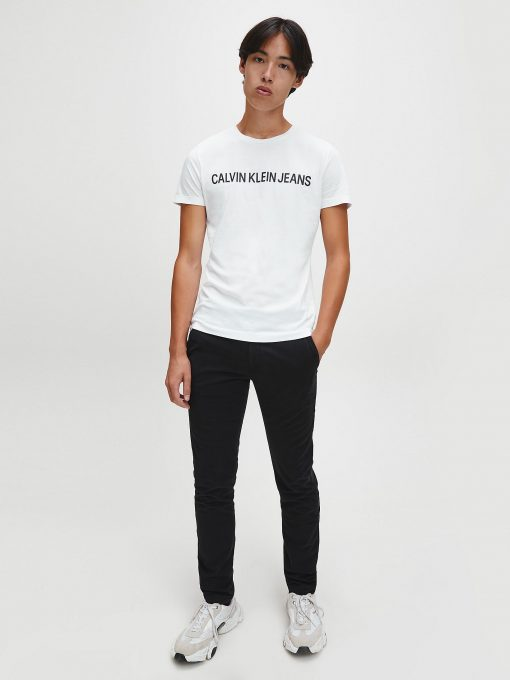 Calvin Klein Institutional logo T-shirt Bright White