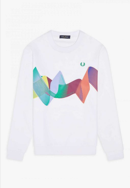 Fred Perry Abstract Sport Sweatshirt White