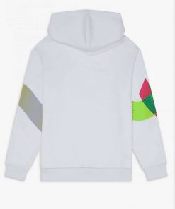 Fred Perry Abstract Hoodie White