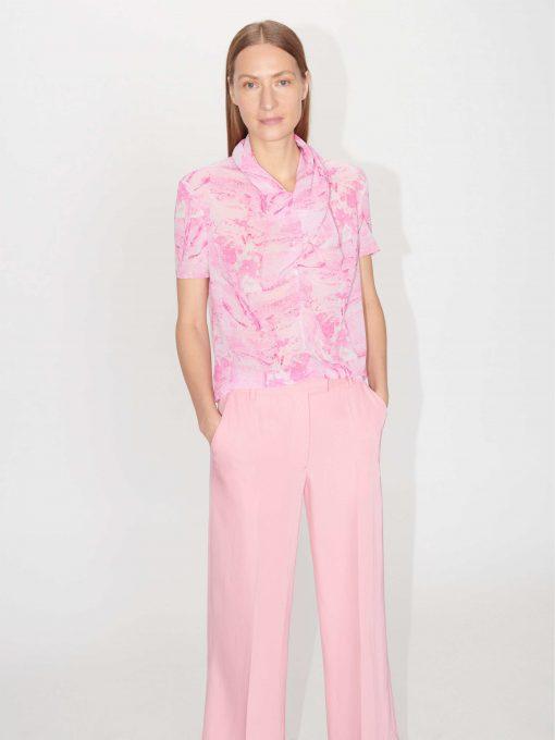 Tiger of Sweden Liugia Print Top Pink