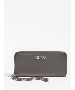Guess South Bay Large Zip Around Wallet Black