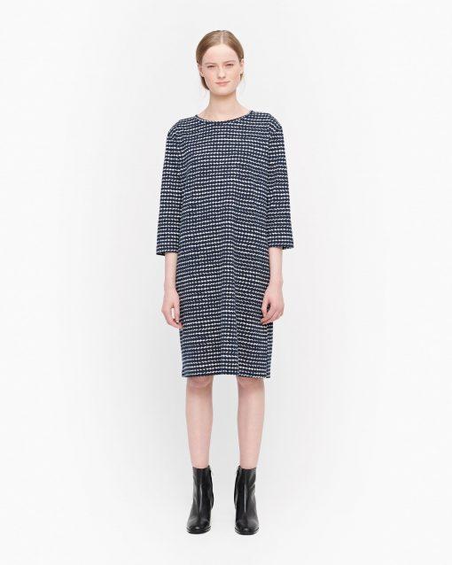 Marimekko Varpu Räsymatto Dress Dark Blue