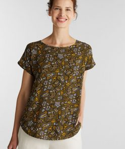 Esprit LENZING™ ECOVERO™ Blouse Olive Green