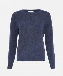 Moss Copenhagen Femme Mohair Pullover Gray Blue Melange
