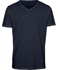 Knowledge Cotton Apparel Alder Basic V-neck Tee Total Eclipse