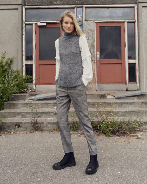 Moss Copenhagen Femme Alpaca Vest Midgrey