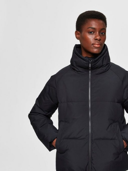 Selected Femme Daisy Down Jacket Black