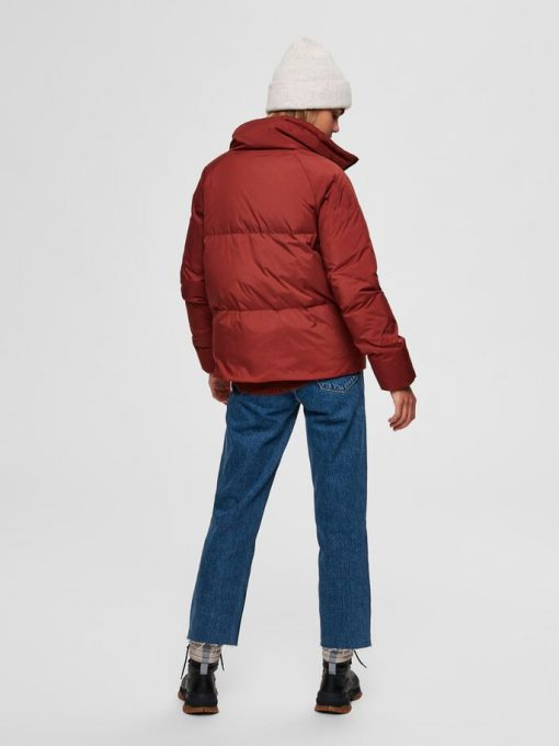 Selected Femme Daisy Down Jacket Smoked Paprika