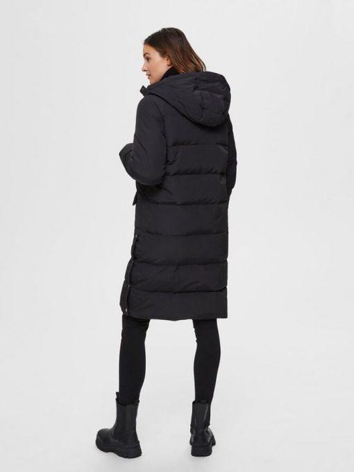 Selected Femme Jenny Down Coat Black