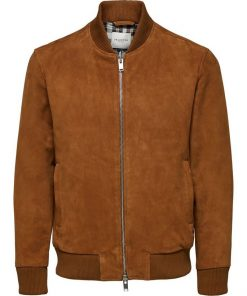 Selected Home Broke Suede Bomber Rubber