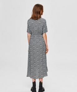 Selected Femme Bella-Damina Floral Dress Black