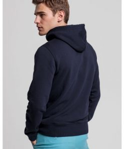 Gant Medium Shield Hoodie Evening Blue
