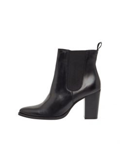 Bianco Biajudia Leather Boots Black