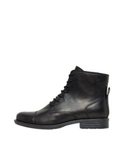 Bianco Biadanelle Leather Boots Black