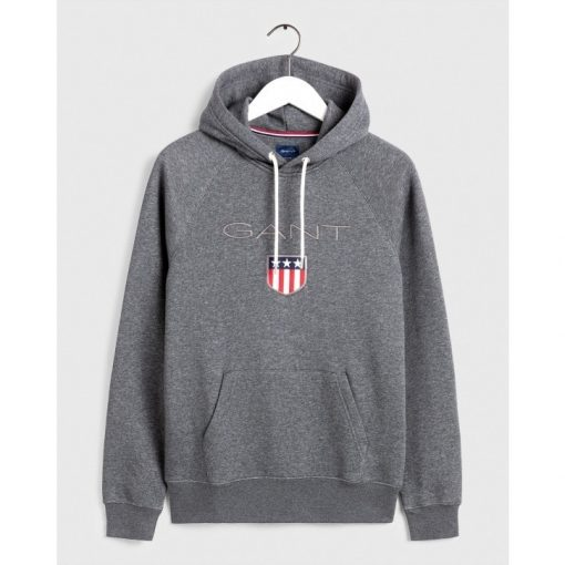 Gant Shield Sweat Hoodie Dark Antracit Melange