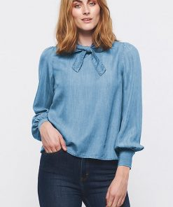 Part Two Poesy Blouse Light Blue Denim