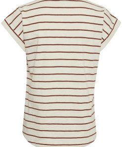 Part Two Kedita T-shirt Stripe Choclat Glaze