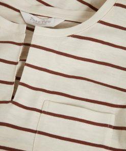 Part Two Kedita T-shirt Stripe Choclat Glaze