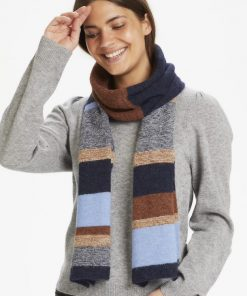Part Two Evoline Scarf Blue Stripe