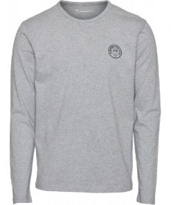 Knowledge Cotton Apparel Locust Long Sleeve Grey