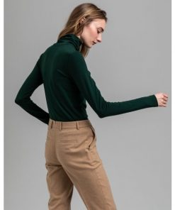 Gant Turtleneck Jersey Tartan Green